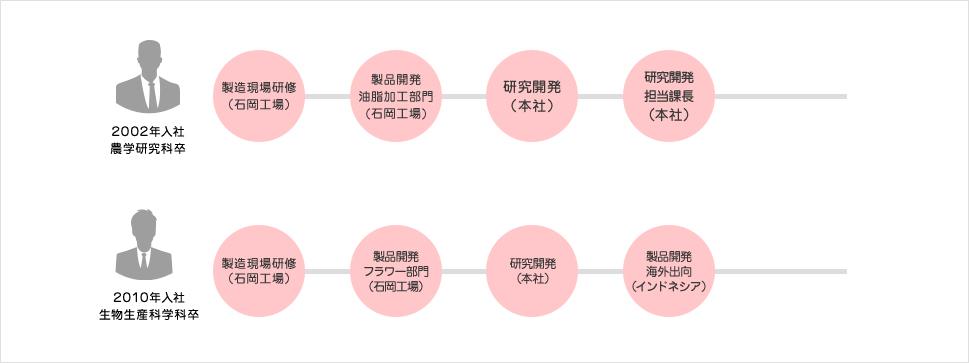 技術系総合職のキャリアステップのイメージ
