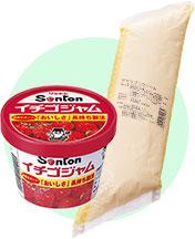 ファミリーカップイチゴジャムと業務用カスタードクリーム
