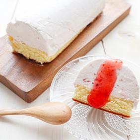 ジャムたっぷりのアイスケーキ