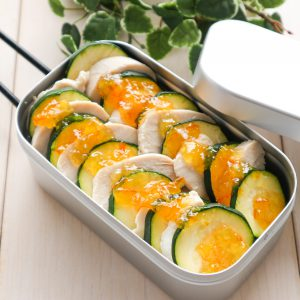 ズッキーニとサラダチキン~オレンジマーマレード掛け~